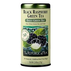 The Republic Of Tea Black Raspberry Green Tea 50 Tea Bags Healthy Summer Fruit Tea -- Learn more by visiting the image link. (This is an affiliate link) China Green Tea, Flavoured Green Tea, Raspberry Tea, Green Tea Bags, Ginger Peach, Tea Brands, Fruit Tea, How To Make Tea