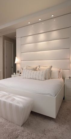 ♂ clean white bed room design Pepe Calderine Design