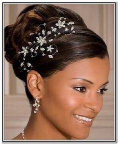 bridal updo hairstyles for black hair - Google Search