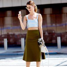 Streetstyle на Неделе моды в Нью-Йорке. Часть 3 | Мода | VOGUE