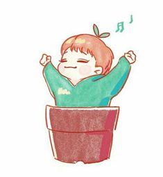 Exo Chen, Sehun, Exo Cartoon, Chibi, Exo Fan Art, Exo Lockscreen, Exo Do, Short Comics, Kpop Fanart