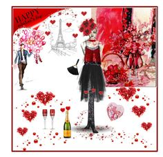 """""Happy Valentine's Day""!"" by onesweetthing ❤ liked on Polyvore featuring Dolce&Gabbana, Elie Saab, Ashish, Vjera Vilicnik, Karl Lagerfeld, Baccarat and Waterford"