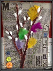 Sanomalehti-taustaiset mixed media työt jatkuivat koululla. Tällä kertaa virpomisoksa. Pohjana tässä on vanha kirjan kansi: Diy Paper, Paper Crafts, Diy Crafts, Origami, Easter Crafts For Kids, Holiday Festival, Art Auction, Art Projects, Wall Art