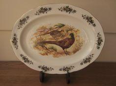 Thanksgiving pheasant platter.  Sheltonian English by ModelVintage