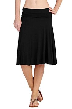 12 Ami Solid Basic FoldOver Stretch Midi Short Skirt Black Extra Large  Crafted in a super soft rayon knit, this classic skirt is a closet must-have featuring a fold over waist band and midi silhouette.       12 Ami Solid Basic FoldOver Stretch Midi Short Skirt Black Extra Large Features   Soft, semi-sheer rayon  Made in USA  95% Rayon 5% Spandex  Model is 5'6 and wearing a size Small, please see Juniors Size Chart for reference  Machine wash on gentle cycle, hang dry only  ..