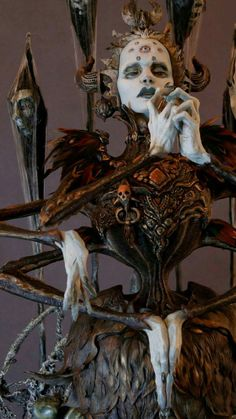 Yevabog, the ancient spider goddess by Virginie Ropars Arte Cyberpunk, Bizarre, Mystique, Arte Horror, Maquillage Halloween, Gothic Art, Creature Design, Character Design Inspiration, Fantasy Characters