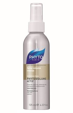 Free shipping and returns on PHYTO 'Phytovolume Actif' Volumizer Spray at Nordstrom.com. Reach new heights with Phytovolume Actif. The heat-activated bodifying spray, ideal for roller sets and up-dos, helps gravity-defying style last all day long.Phytovolume Actif Volumizer Spray contains nasturnium, which boosts at the roots as keratin amino acids and wheat proteins thicken the diameter of each hair fiber.How to use: After hair is towel-dried, spray directly onto roots, one section at a…