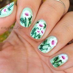 Vintage floral nails #ruthsnailart #nailart