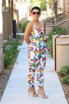 Floral Print Jumpsuit - Mimi G Style