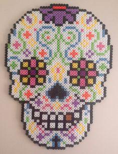 Day of the dead sugar skull by MadebyBlackSheep on Etsy