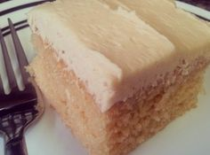 ****Easy Peanut Butter Cake & Peanut Butter Frosting Recipe ~~Cake Mix ~~ Use 1/2 STICK(4 TBLsp) of butter for frosting ~~ http://www.justapinch.com/recipes/dessert/cake/easy-peanut-butter-cake-peanut-butter.html