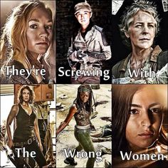 They're screwing with the wrong women - Fangirl - The Walking Dead pinned from https://mobile.twitter.com/twdmemesuk/status/514884980955435010