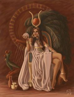 """""""Hathor is the Egyptian goddess of love, beauty, fertility, music, and dance. She is also the personification of the Milky Way."""