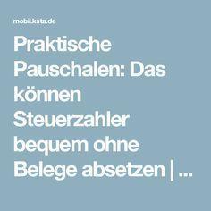 Praktische Pauschalen: Das können Steuerzahler bequem ohne Belege absetzen   Kölner Stadt-Anzeiger