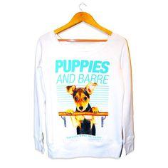 Puppies & Barre | Ice Wide Neck Sweatshirt