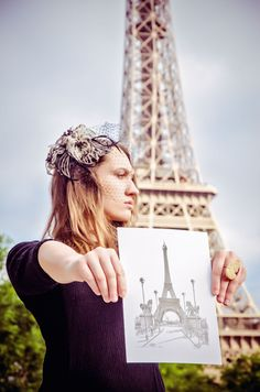Vintage photoshoot in Paris, France
