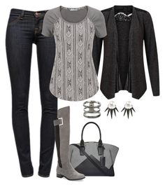 """""""Casual Comfort"""" by bri-grim ❤ liked on Polyvore featuring VILA, J Brand, Narciso Rodriguez, maurices, Calvin Klein, Nikos Koulis, casual, denim, Boots and comfy"""