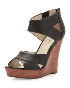 Give it Back Leather Wedge, Black by Seychelles at Neiman Marcus.