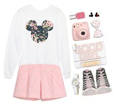 """DisneyLand"" by sweetpastelady ❤ liked on Polyvore featuring Blugirl, Converse, Moschino, Disney, Fashion Fair, Pink, sweet, disney, pastel and amusementpark"