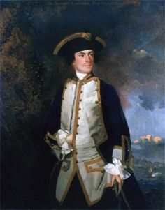 Captain Augustus Keppel painted by Sir Joshua Reynolds. Keppel was the Commodore of the Royal Navy squadron sent to support British forces in 1754.
