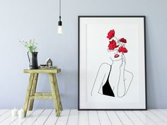 Items similar to Lady Poster Woman One Line Poster Drawing Face Figure Abstract Simple Line Sketch Minimalist Sketch Line Art Woman Fashion sexy on Etsy Anni Minimalist Painting, Minimalist Art, Minimalist Poster, Diy Canvas, Canvas Art, Art Abstrait Ligne, Art Zen, Line Sketch, Poster Drawing