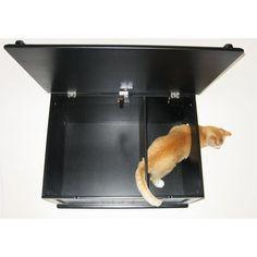 Shop Designer Catbox Hidden Litter Box Enclosure Furniture - Overstock - 7638119 Jumbo Litter Box, Hidden Litter Boxes, Cat Litter Box Enclosure, Litter Pan, Cat Care Tips, Pet Tips, Dogs And Kids, Pet Mat, Cat Supplies