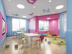 This is a high quality preschool interior design for 0-6years kids , designed by 61 space design company in nanjing china , all what we design is for high quality learning. contact QQ 59079448 (David )