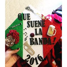 Pin for Later: Graduating Latinas Are Honoring Their Heritage With Inspiring DIY Caps Celebrating Graduation With Banda Music College Graduation Photos, Graduation Diy, High School Graduation, Graduation Pictures, Graduation Parties, Graduation Quotes, Graduation Celebration, Graduation Announcements, Graduation Invitations