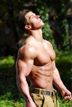 The sun feeds Jacob's muscles. Since he ate that strange plant sunbathing makes his muscles grow and his cock twitch. He knows another amazing orgasm is coming soon. Muscle Boy, Muscle Hunks, Le Male, Hommes Sexy, Muscular Men, Shirtless Men, My Guy, Male Beauty, Gorgeous Men