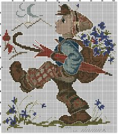 """Globetrotter"" Hummel cross stitch pattern #1"