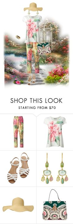 """""""Patterened Pants"""" by kathleensmith-i ❤ liked on Polyvore featuring Antonio Marras, Moncler, Bass, Pippa Small, Valentino and Ashley Pittman"""