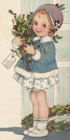 Christmas - Treats For Santa's Reindeer - Illustrator: Margaret Evans Price.