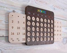Вечный календарь, деревянный календарь, необычный подарок, новогодний подарок.