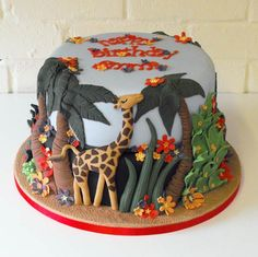 A Giraffe Birthday Cake made for someone who absolutely adores giraffes.