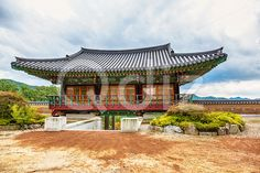 Qdiz Stock Photos | Traditional architecture old building temple in Korea,  #ancient #antique #architecture #asia #asian #autumn #building #culture #day #green #house #Korea #korean #monk #old #sky #South #temple #traditional #tree