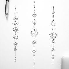 Spine Tattoos For Women, Tattoos For Women Flowers, Geometric Tattoo Design, Geometric Art, Sparrow Tattoo, Get A Tattoo, Tattoo Artists, Tatoos, Piercings