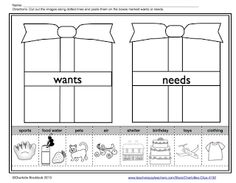 Classroom Freebies Too: Wants and Needs Freebies from Charlotte's Clips
