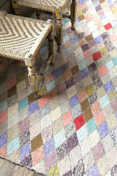 "Dash and Albert Rugs- ""Harlequin""- Cotton Hooked Rug- Available @ Maryland Paint & Decorating"