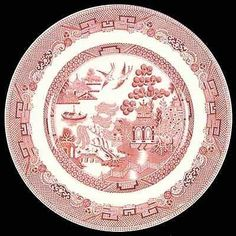 Johnson Brothers pink Willow dinner plate
