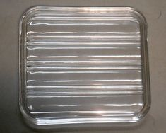 VINTAGE kitchen rectangle clear glass refrigerator pan cake #retrokitchen #rectangle #clearglass #refrigerator #pan #Plate #cookietray #cookieplate #cakeplate #shotglasstray #storage #glassware #etsy #etsyseller #etsyshop #giftideas #vintage #retro