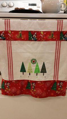 Disney Kitchen Towel Disney Family Christmas Oven by stitchcottage