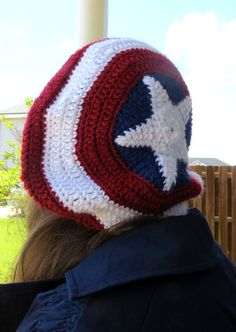 Captain America Crochet Hat from Avengers Hat Initiative