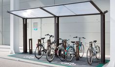 Find out all of the information about the AUBRILAM product: steel cycle shelter UTYL.