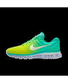aebf8904d30 Nike Air Max 2017 Womens Id Lemon Yellow Teal White Shoes Outlet Teal Shoes