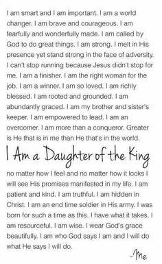 Daughter of the king YAS queen Daughters Of The King, Daughter Of God, Daughters Room, Bible Quotes, Bible Verses, Scriptures, Bible Psalms, Juan Xxiii, Gods Princess