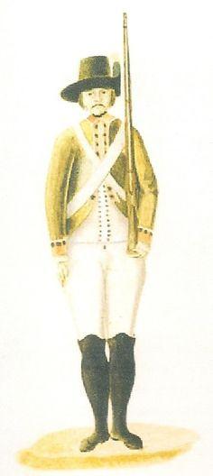 Caballería Provincial de Nueva España 1795 a pie