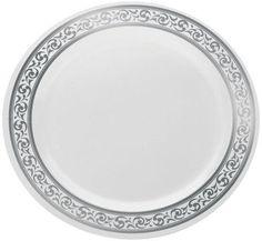 Elegant Disposable Dinnerware - Plastic Wedding Plates - Posh Party Supplies ™  sc 1 st  Pinterest & 6.5\