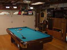 My 9 Foot Pool Table In BigRigTomu0027s Garage Pool Room Made By Global  Billiards Of Gardena