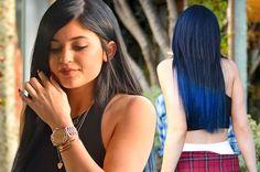 Hair Color - Midnight Blue Tint... Kinda like. Kylie Jenner.