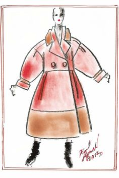 Fendi to Hold Fur Show During Couture Week | WWD Fendi by Karl Lagerfeld Sketch